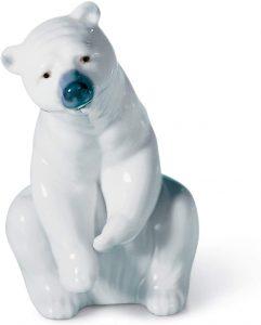 Figura de cría de Oso polar de Lladró - Los mejores muñecos de osos polares - Figuras de oso polar de animales