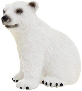 Figura de cría de Oso polar de Schleich 2 - Los mejores muñecos de osos polares - Figuras de oso polar de animales