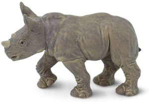 Figura de cría de Rinoceronte blanco de Safari - Los mejores muñecos de rinocerontes - Figuras de rinoceronte de animales
