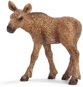 Figura de cría de alce de Schleich - Los mejores muñecos de alces - Figuras de alce de animales