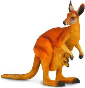 Figura de cría de canguro de Collecta - Los mejores muñecos de canguros - Figuras de canguro de animales