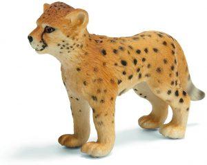 Figura de cría de guepardo de Schleich 2 - Los mejores muñecos de guepardos - Figuras de guepardo de animales