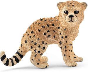 Figura de cría de guepardo de Schleich - Los mejores muñecos de guepardos - Figuras de guepardo de animales