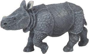 Figura de cría de rinoceronte Indio de Papo - Los mejores muñecos de rinocerontes - Figuras de rinoceronte de animales
