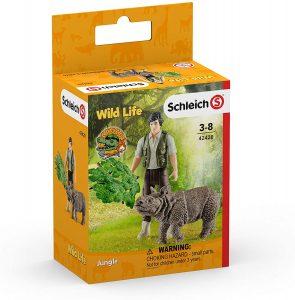 Figura de cría de rinoceronte de Schleich - Los mejores muñecos de rinocerontes - Figuras de rinoceronte de animales