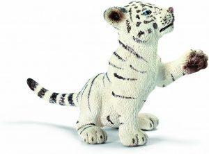 Figura de cría de tigre blanco de Schleich 2 - Los mejores muñecos de tigres - Figuras de tigrede animales