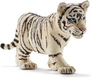 Figura de cría de tigre blanco de Schleich - Los mejores muñecos de tigres - Figuras de tigrede animales