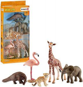 Figura de cría jirafa y otros animales de Schleich - Los mejores muñecos de jirafas - Figuras de jirafa de animales