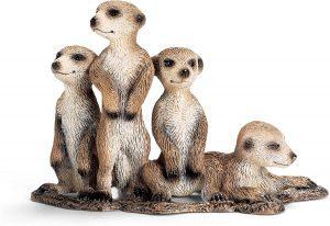 Figura de crías de suricato de Schleich - Los mejores muñecos de suricatos - Figuras de suricato de animales