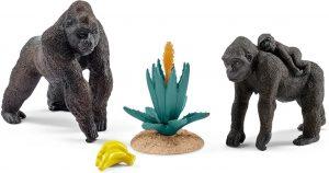Figura de familia de gorilas de Schleich - Los mejores muñecos de gorilas - Figuras de gorila de animales