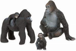 Figura de familia de gorilas de Terra By Battat - Los mejores muñecos de gorilas - Figuras de gorila de animales