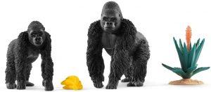Figura de gorila macho y hembra de Schleich - Los mejores muñecos de gorilas - Figuras de gorila de animales
