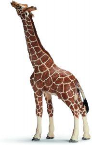 Figura de jirafa comiendo de Schleich - Los mejores muñecos de jirafas - Figuras de jirafa de animales