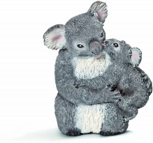 Figura de koala con cría de Schleich - Los mejores muñecos de koalas - Figuras de koala de animales