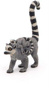 Figura de lémur con cría de Papo - Los mejores muñecos de lemures - Figuras de lémur de animales