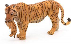 Figura de tigre con cría de Papo - Los mejores muñecos de tigres - Figuras de tigrede animales