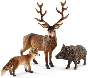 Figura de zorro ciervo y jabalí de Schleich - Los mejores muñecos de zorros - Figuras de zorro de animales