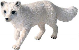 Figura de zorro polar de Flormon - Los mejores muñecos de zorros - Figuras de zorro de animales