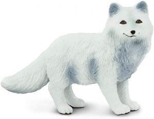 Figura de zorro polar de Safari - Los mejores muñecos de zorros - Figuras de zorro de animales
