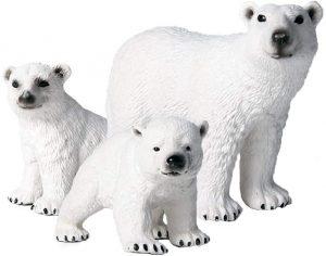 Figuras de Oso polar de Flormon - Los mejores muñecos de osos polares - Figuras de oso polar de animales