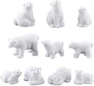 Figuras de Oso polar de Toyvian - Los mejores muñecos de osos polares - Figuras de oso polar de animales