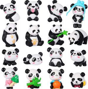 Set de figuras de Oso Panda de Chinco - Los mejores muñecos de osos panda - Figuras de oso panda de animales