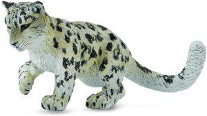 Figura de cría leopardo de las nieves de Schleich - Los mejores muñecos de leopardos - Figuras de leopardo de animales
