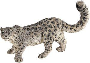 Figura de leopardo de las nieves de Papo - Los mejores muñecos de leopardos - Figuras de leopardo de animales