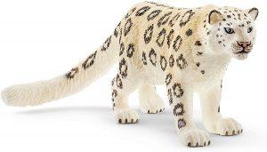 Figura de leopardo de las nieves de Schleich - Los mejores muñecos de leopardos - Figuras de leopardo de animales