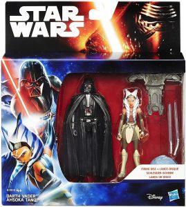 Figura de Ahsoka Tano y Darth Vader de Hasbro - Los mejores muñecos y figuras de Star Wars