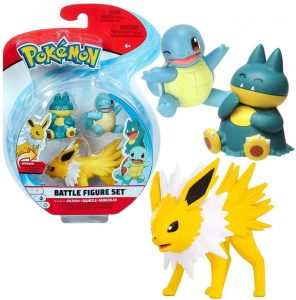 Figura de Jolteon Squirtle y Munchlax - Los mejores muñecos y figuras de Squirtle - Muñeco de Pokemon