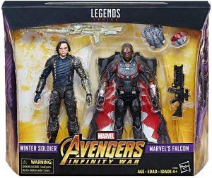 Figura de Soldado del Invierno y Falcon en Infinity War de Hasbro - Los mejores muñecos y figuras del Soldado del Invierno - Muñeco de Marvel