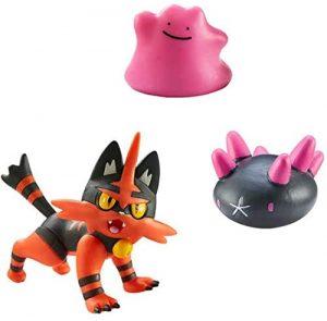 Figura de Torracat y Ditto de Bizak - Los mejores muñecos y figuras de Ditto - Muñeco de Pokemon