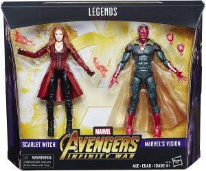 Figura de la Bruja Escarlata y Vision de Hasbro - Los mejores muñecos y figuras de Wanda - Muñeco de Marvel