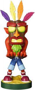 Cable guy Aku Crash Bandicoot de Exquisite Gaming - Figuras para sujetar cables de colección - Soporte de sujeción y carga