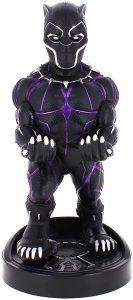 Cable guy Black Panther de Exquisite Gaming - Figuras para sujetar cables de colección - Soporte de sujeción y carga