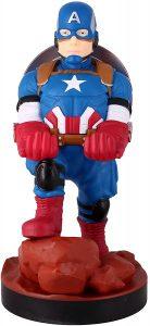 Cable guy Capitán América de Exquisite Gaming - Figuras para sujetar cables de colección - Soporte de sujeción y carga