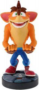Cable guy Crash Bandicoot de Exquisite Gaming - Figuras para sujetar cables de colección - Soporte de sujeción y carga