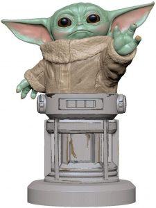 Cable guy de Grogu de Baby Yoda de The Mandalorian de Exquisite Gaming - Figuras para sujetar cables de colección - Soporte de sujeción y carga