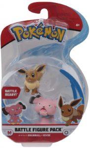 Figura de Eevee y Snubull de Pokemon - Las mejores figuras de Pokemon