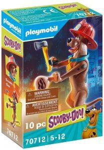 Figura de Scooby Doo de Playmobil 70712 de Bombero - Los mejores sets de playmobil de Scooby-Doo