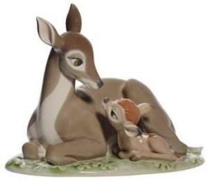 Figura de porcelana de NAO de Disney de Bambi - Las mejores figuras de porcelana de Lladró de Disney