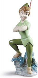 Figura de porcelana de NAO de Disney de Peter Pan - Las mejores figuras de porcelana de Lladró de Disney