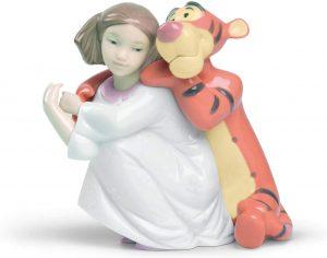 Figura de porcelana de NAO de Disney de Tigger con niña - Las mejores figuras de porcelana de Lladró de Disney