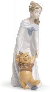 Figura de porcelana de NAO de Disney de Winnie The Pooh con niña - Las mejores figuras de porcelana de Lladró de Disney