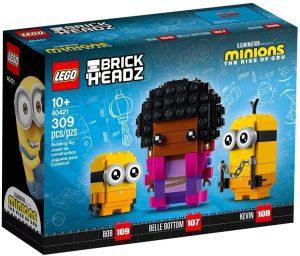 LEGO BrickHeadz de Belle Bottom, Kevin y Bob de los Minions - Los mejores juguetes de construcción de LEGO BrickHeadz