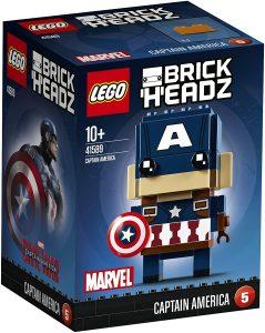 LEGO BrickHeadz de Capitán América de Marvel - Los mejores juguetes de construcción de LEGO BrickHeadz