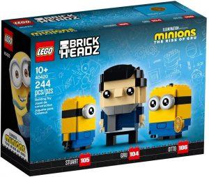 LEGO BrickHeadz de Gru, Stuart y Otto de los Minions - Los mejores juguetes de construcción de LEGO BrickHeadz