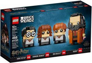 LEGO BrickHeadz de Harry Potter, Hermione, Ron y Hagrid de Harry Potter - Los mejores juguetes de construcción de LEGO BrickHeadz