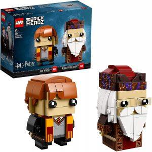 LEGO BrickHeadz de Ron Weasley y Albus Dumbledore de Harry Potter - Los mejores juguetes de construcción de LEGO BrickHeadz